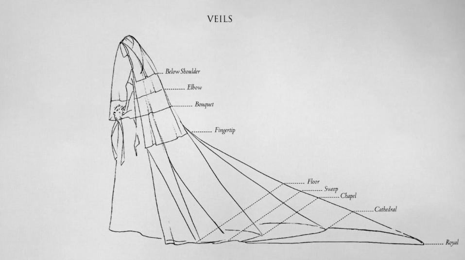 简易头纱手绘图