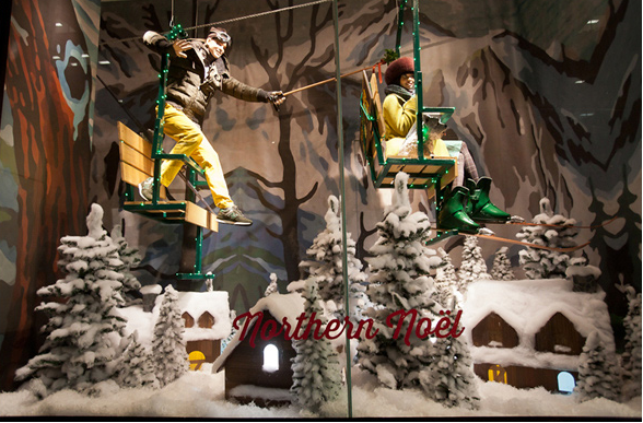 xmas windows- holt renfrew