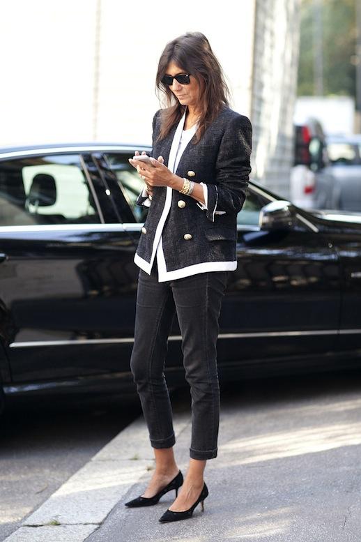 Le-Fashion-Blog-11-Ways-To-Wear-Kitten-Heels-Emmanuelle-Alt-Street-Style-Button-Jacket-Via-Pop-Sugar-1