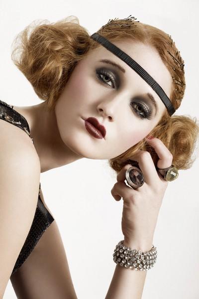 silent film star flapper makeup